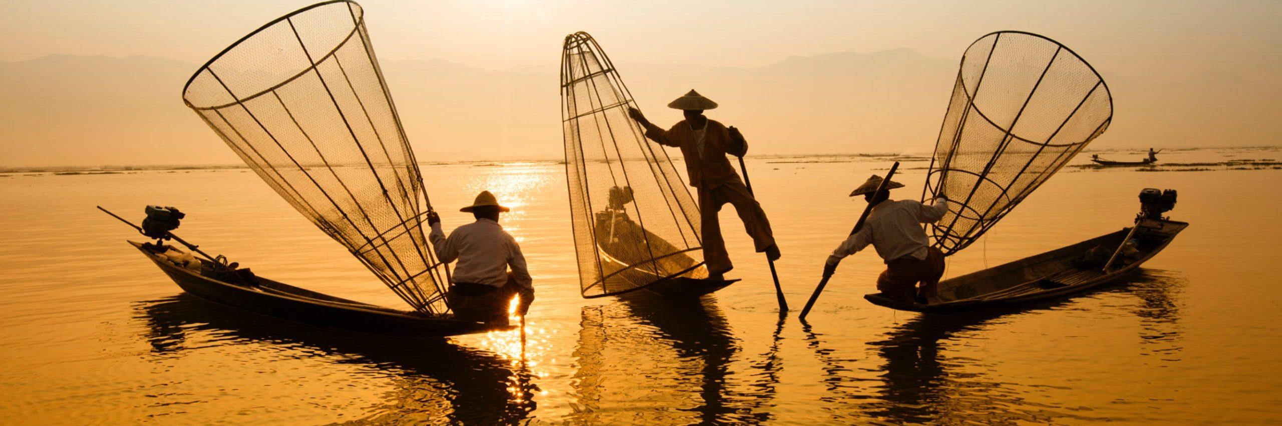 Three men fishing. (Vietnamese Private Tours; 2015)