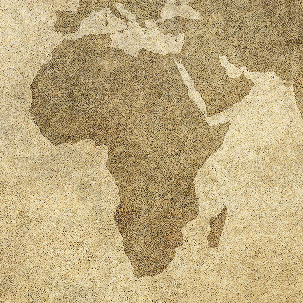 grunge map of the world - Image - cropped to Africa