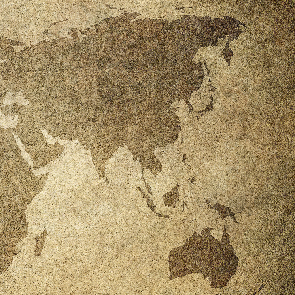 grunge map of the world - Image - cropped to Asia and Near East