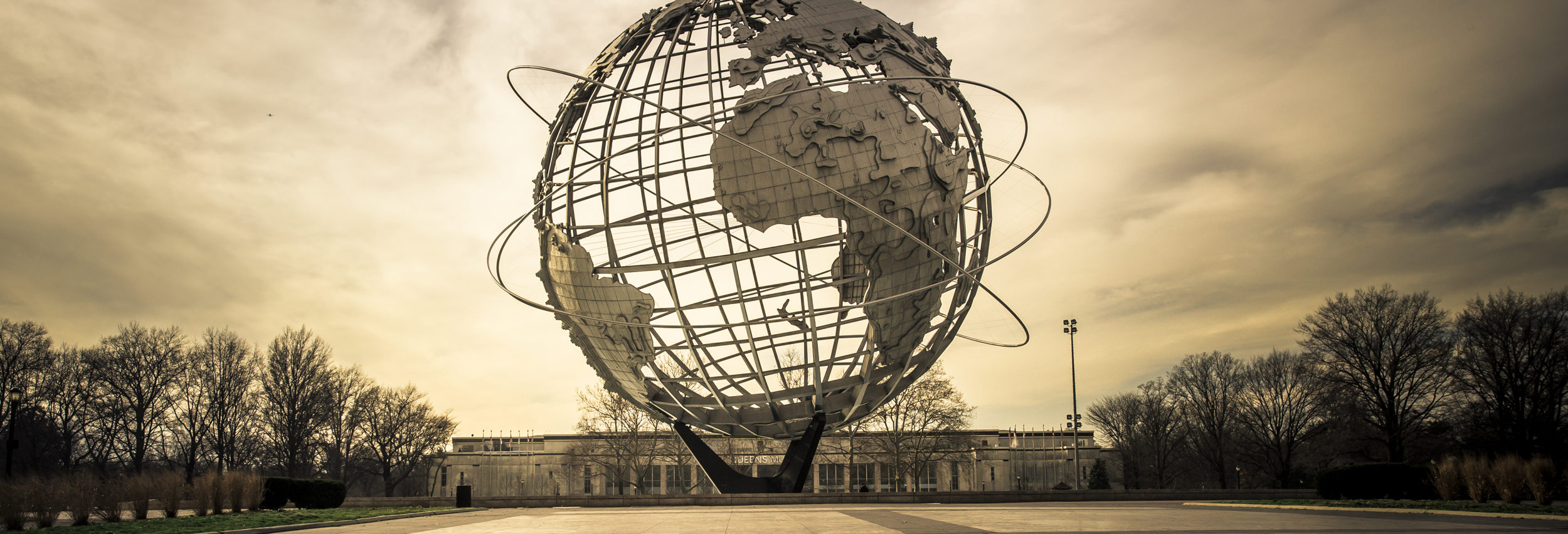 NEW YORK CITY - JANUARY 7, 2016: Vintage Unisphere at Flushing Meadows-Corona Park in Queens was installed for the 1964 World's Fair. - Image [Shutterstock]