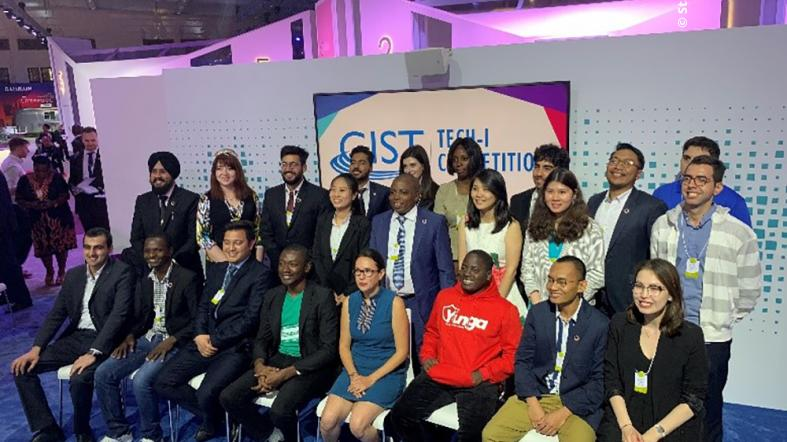 All 24 GIST Tech-I Finalists following the final pitch competition at the Global Entrepreneurship Congress in Bahrain.