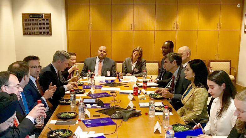 Representatives from the U.S Department of State and the interagency meet with executives from American Express, Diners, Discover, Mastercard, PayPal, and Visa.