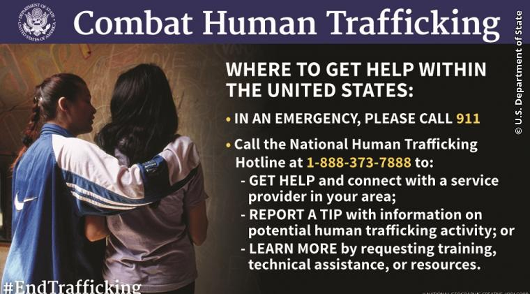 What to Do If You Encounter a Potential Instance of Human Trafficking -  United States Department of State