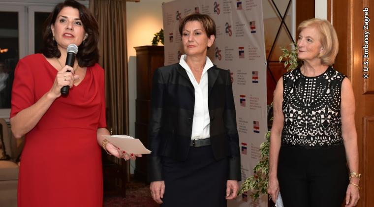 Ambassador to Croatia Julieta Valls Noyes, Croatian Deputy Prime Minister and Minister of Economy Martina Dalić, and Principal Deputy Assistant Secretary for the European and Eurasian Affairs Elisabeth Millard open the event.