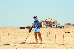 Manual clearance in Al Anbar, Iraq. Photo courtesy of NPA