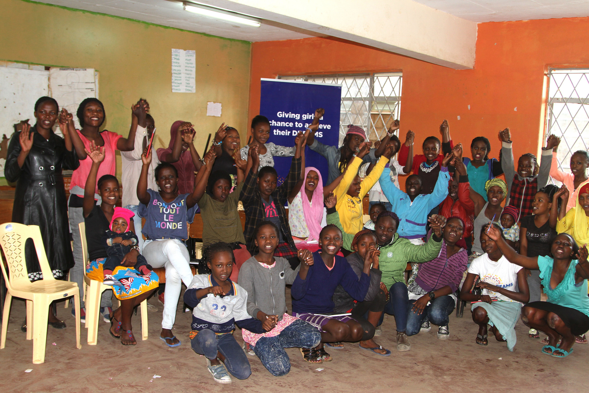 A group of young women supported by the PEPFAR-led DREAMS Partnership in Kenya. (Photo Credit: USAID Kenya)