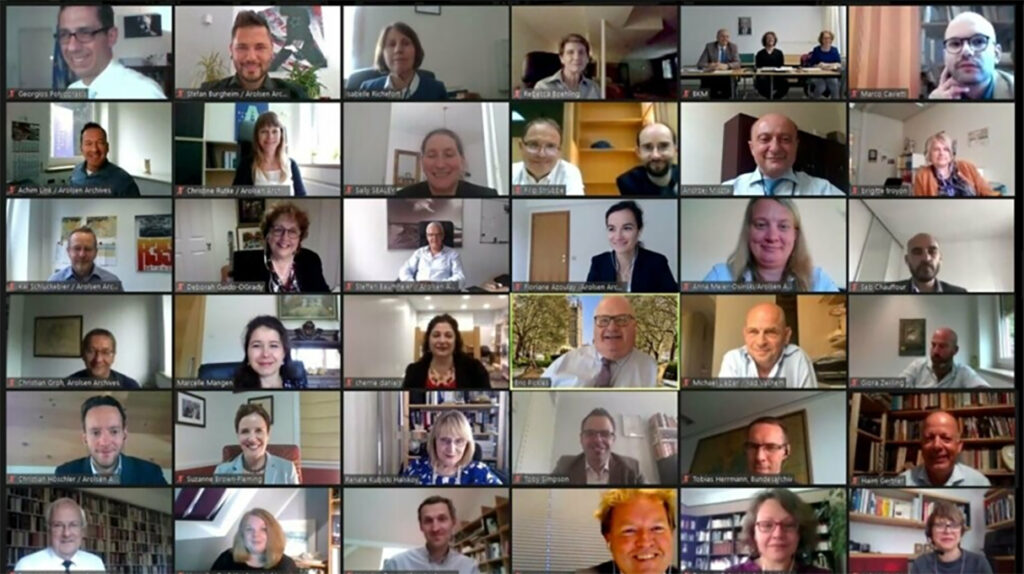 Virtual meeting onJune 16,2020 of the United States assumed the year-longChairmanship of the11-nationInternational Commissionfor the International Tracing Service (ITS).
