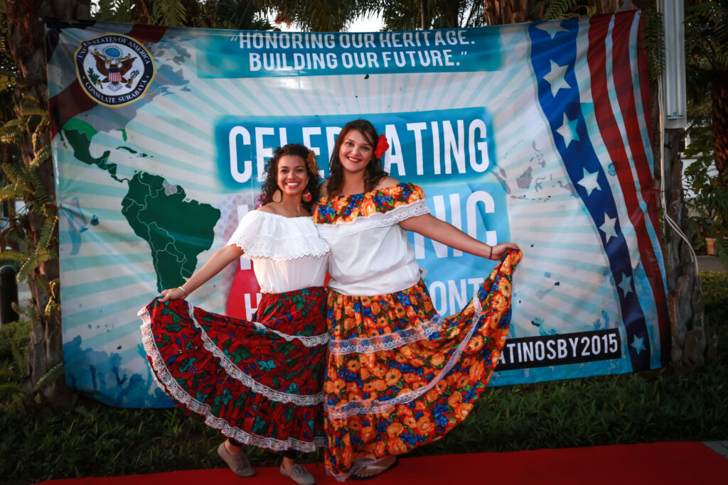 Foreign Service Officer Carolina Escalera celebrates the beginning of Hispanic Heritage Month in Surabaya, Indonesia (Photo courtesy of U.S. Consulate Surabaya)