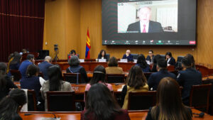 Virtual event of U.S.-Mongolia CPC Partnership launch ceremony, October 27, 2020. [U.S. Embassy Ulaanbaatar photo]