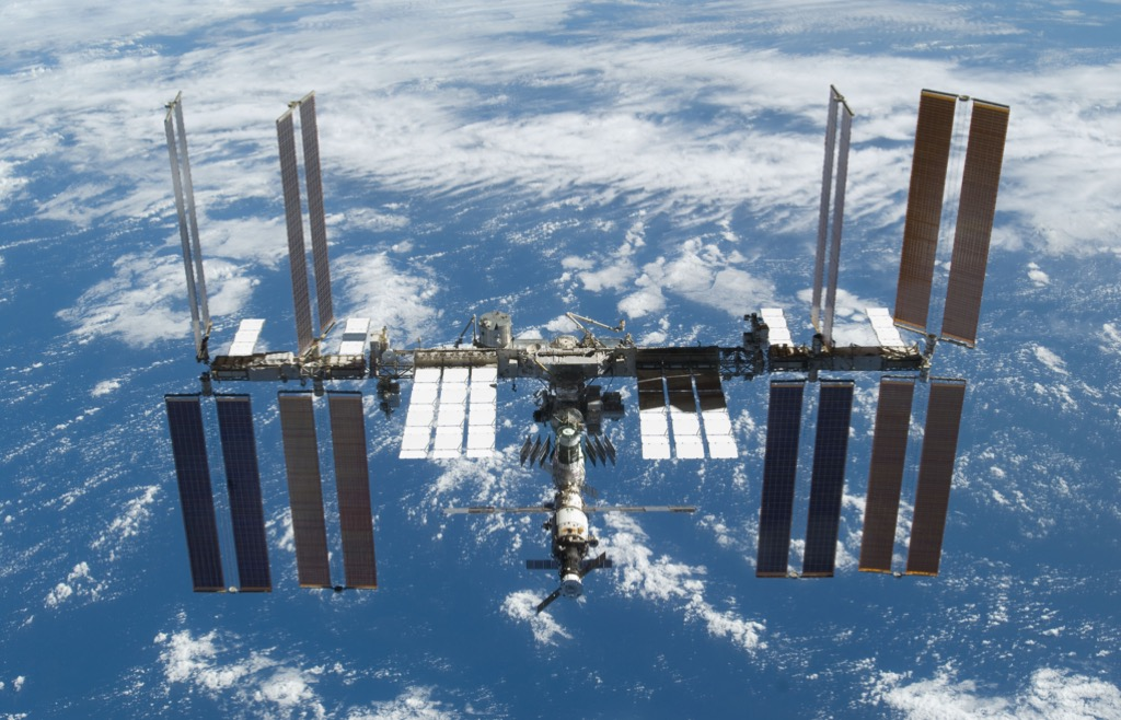 Originally taken on November 25, 2009, this image of the International Space Station was taken soon after the space shuttle Atlantis and the station began their post-undocking relative separation. (Photo courtesy of NASA)