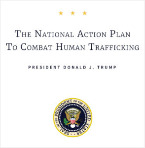 Report Cover: The National Action Plan to Combat Human Trafficking