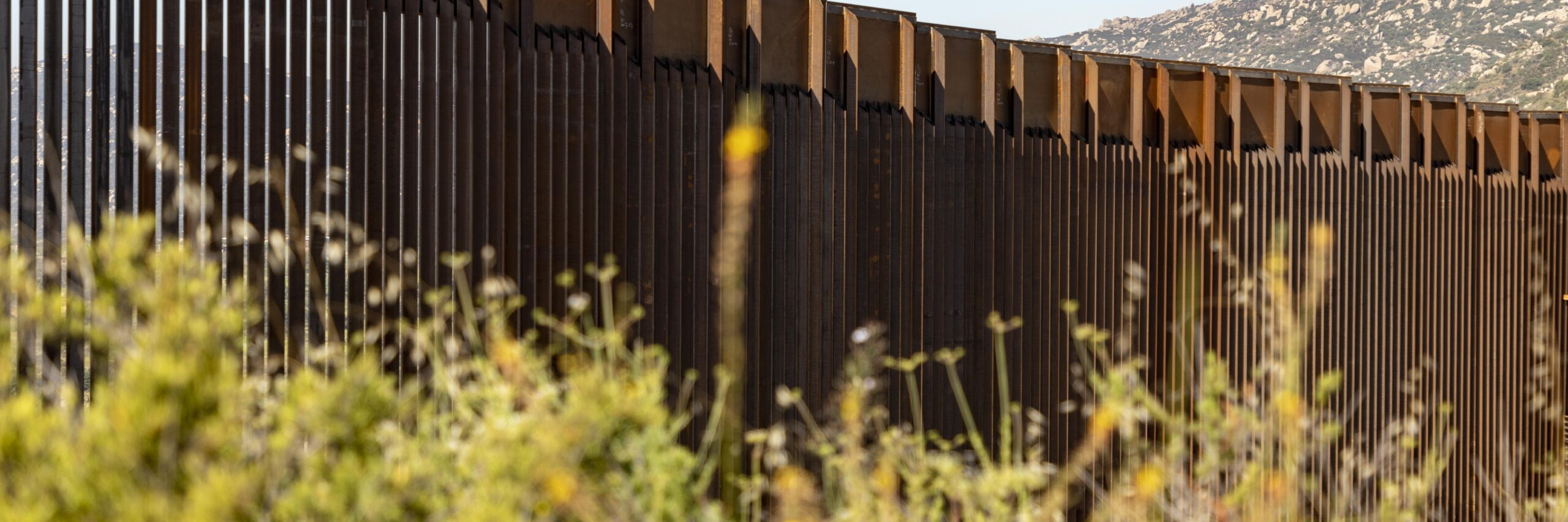 Construction Continues On The Replacement Border Wall Near The Tecate Port Of Entry