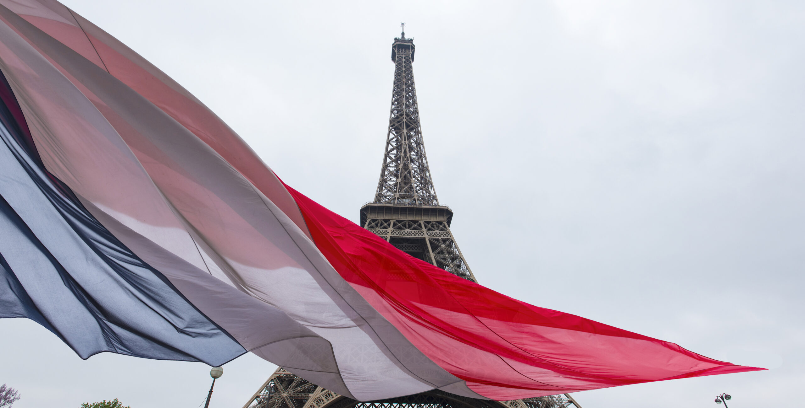 Eiffel tower and French flag [Shutterstock Image]