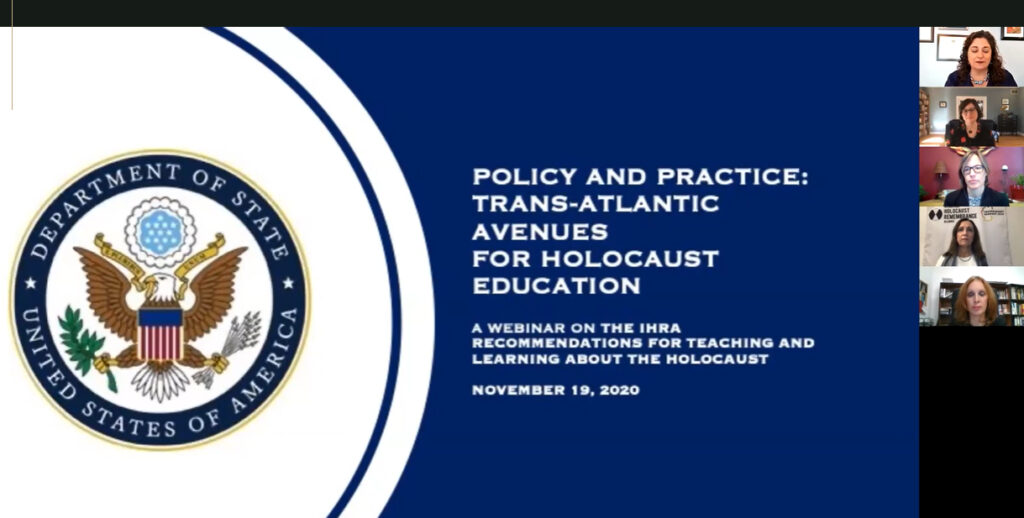 Webinar: Policy and Practice: Trans-Atlantic Avenues for Holocaust Education