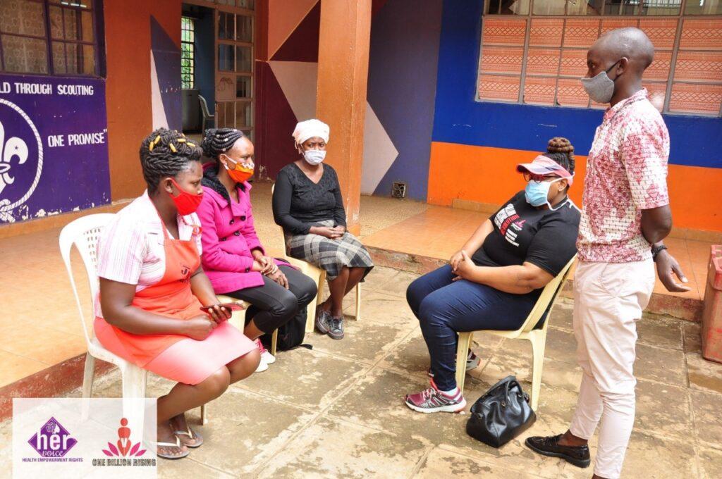 Cecilia Onyango and her team have been conducting door-to-door welfare checks in Nairobi. (Photo courtesy: U.S. Embassy Nairobi)