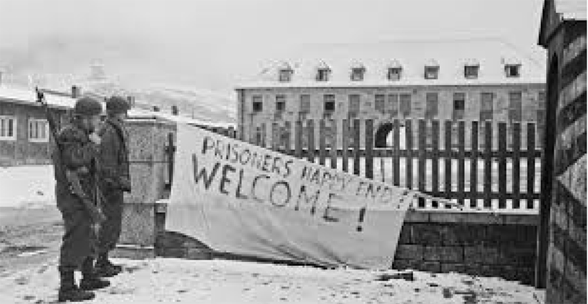 On April 23, 1945, American units of the U.S. Army liberated the Flossenbürg concentration camp. Photo courtesy of KZ Gedenkstätte Flossenbürg.