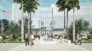 Rendering of the Mérida Main Entry