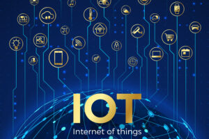 IOT concept. Internet of things. Global network connection. Monitoring and control smart systems icons. Vector illustration [shutterstock]