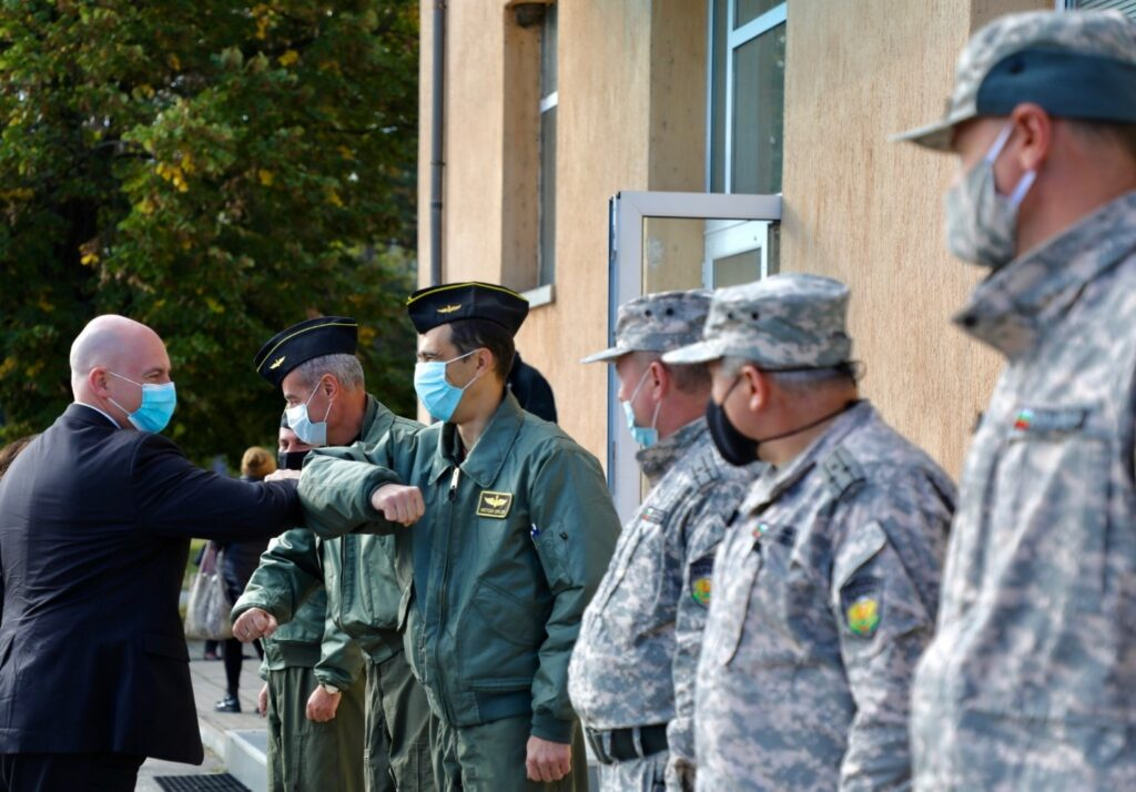 Assistant Secretary Cooper meets with the Bulgarian Ministry of Defense showing the capabilities of Graf Ignatievo Air Base, Bezmer Air Base, and Novo Selo Training Area with the U.S. and Bulgaria implementation modernization efforts and further interoperability in NATO. (Photo courtesy of U.S. Embassy Sofia)