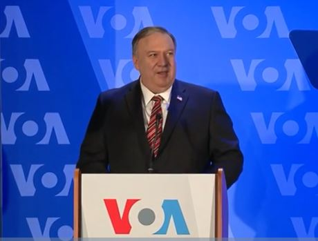 Secretary Pompeo delivers remarks at Voice of America Headquarters in Washington, DC.